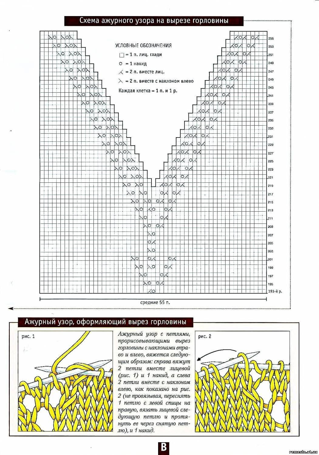 Вязание v образного выреза крючком 54